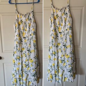 Sun dress with smocked bust.